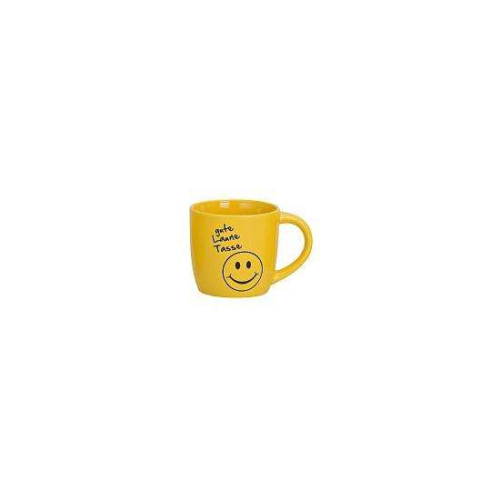 Gele thee beker met smiley type 2