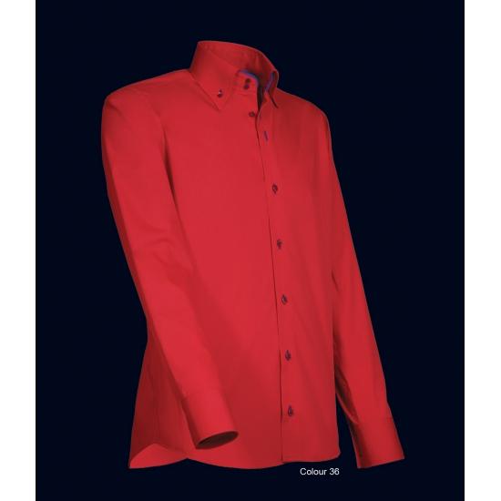 Heren Overhemd Rood.Modern Heren Overhemd Rood Met Blauw In Oranje Artikelen Winkel