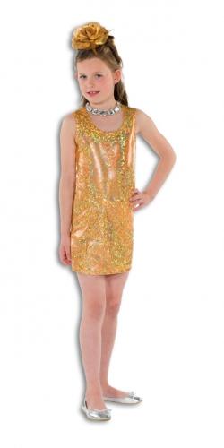 Gouden Cocktailjurk.Gouden Disco Jurk Voor Meisjes In Oranje Artikelen Winkel Oranjeshopper