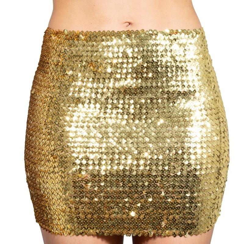 1ba045ff6b6ef7 Gouden glitter pailletten disco rokje dames in oranje artikelen ...