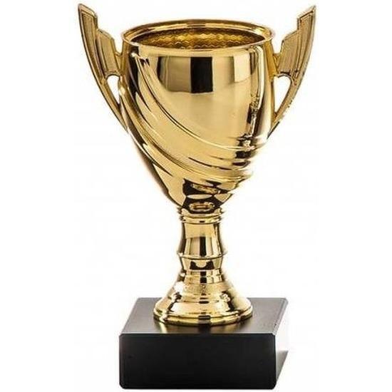 Gouden trofee beker eerste prijs 13 cm