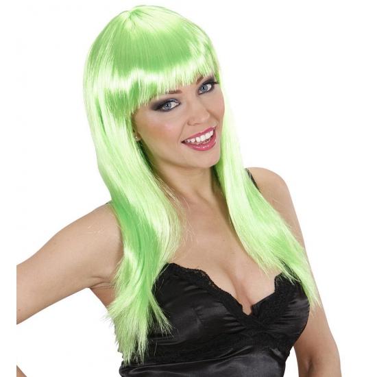 Groene damespruiken stijl haar