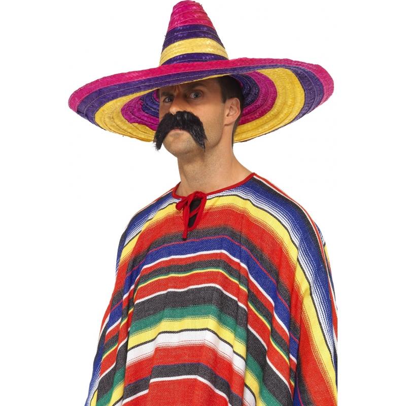 Grote gekleurde verkleed sombrero hoeden 50 cm voor volwassenen. grote sombrero in vrolijke kleurtjes. de ...