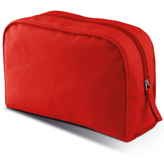 de8bc30a94d Canvas etui of toilettas van canvas met pu waterdichte coating. de rode tas  heeft een