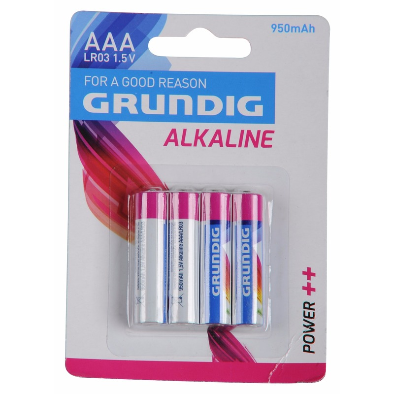 Grundig alkaline batterijen AAA 4 stuks
