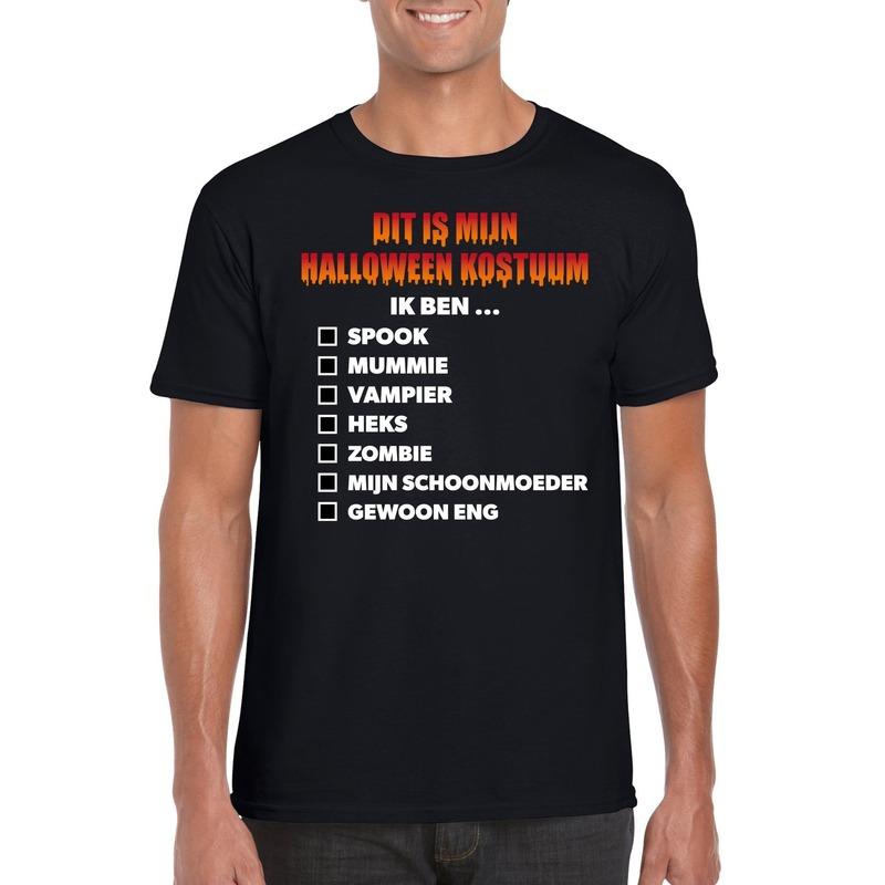 Halloween Halloween kostuum lijstje t-shirt zwart heren
