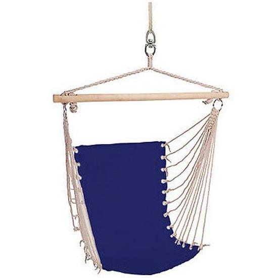Hangstoel-hangende stoel blauw 100 x 60 cm