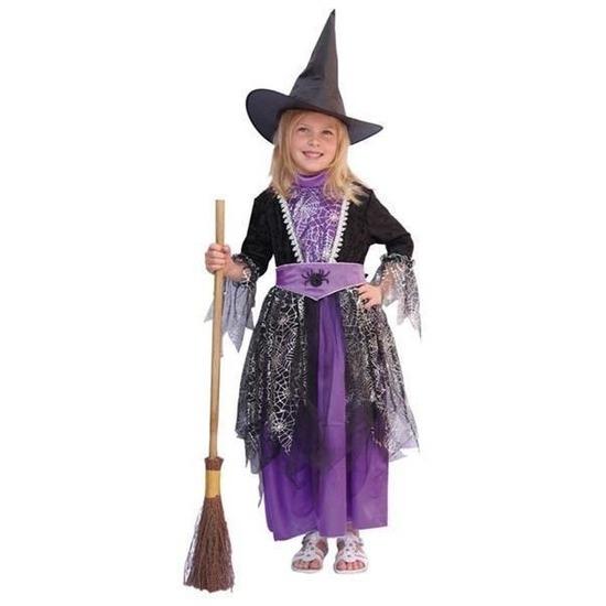 ff2b84bbc03e18 Kinder heksen kleding paars in oranje artikelen winkel Oranjeshopper