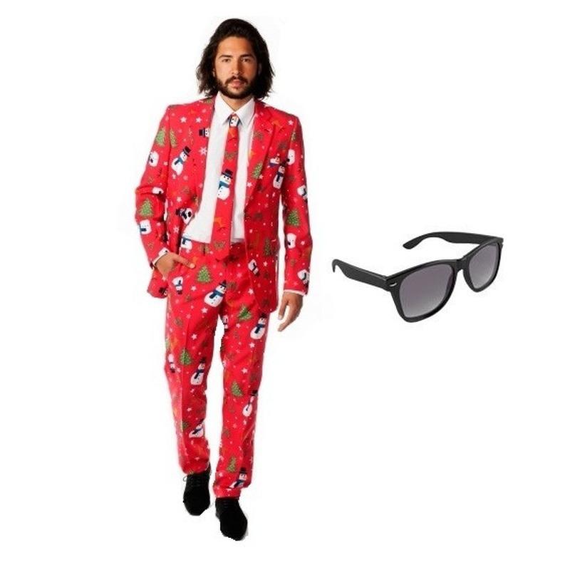 Carnavalskleding Dames Maat 48.Heren Kostuum Met Kerst Print Maat 48 M Met Gratis Zonnebril In