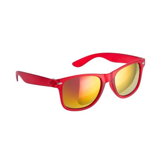 bccc706cb02b58 Toppers - Hippe zonnebril rood met spiegelglazen in oranje artikelen ...