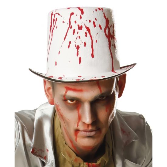 Hoge hoed met bloedspetters