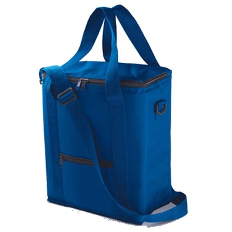Hoge koeltas blauw voor flessen 30 x 36 cm 18 liter