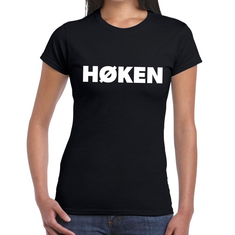 Hoken festival t-shirt zwart dames