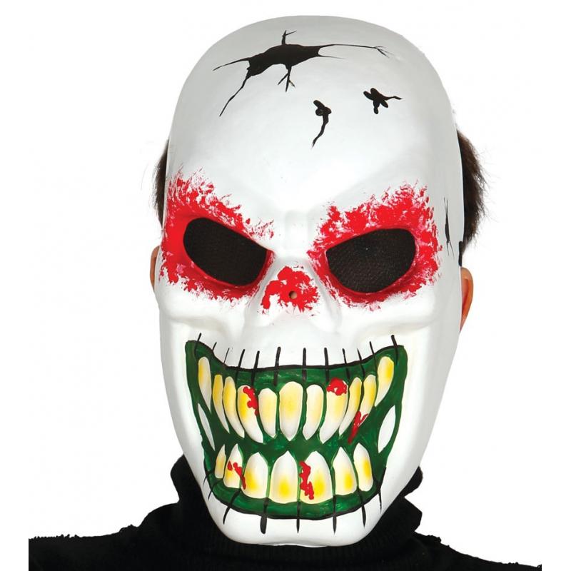 Halloween Artikelen.Voordelige Skelet Masker Voor Halloween In Oranje Artikelen