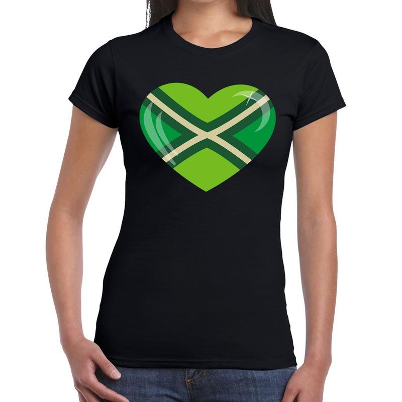I love Achterhoek festival t-shirt zwart dames