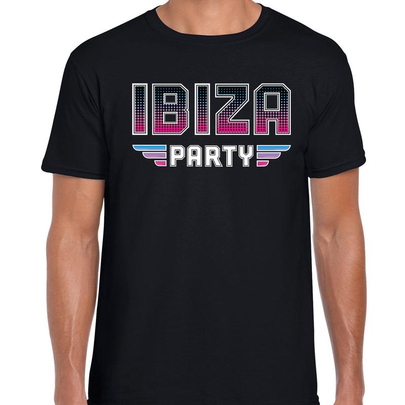 Ibiza party feest t-shirt zwart voor heren