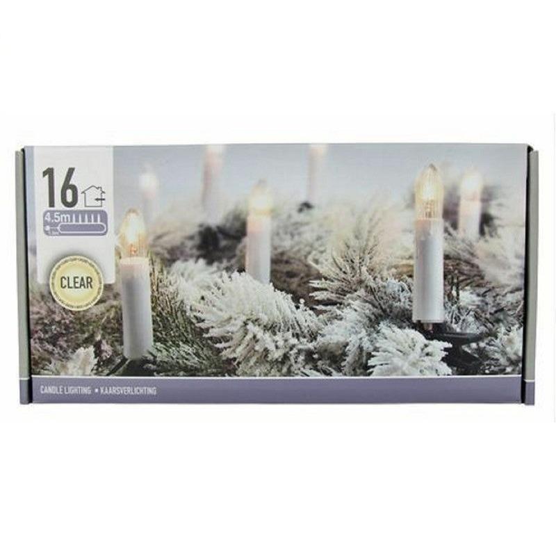 Kaarsen verlichting helder binnen 16 lampjes