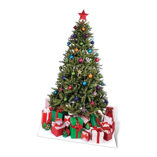 Kartonnen kerstboom fotoprint