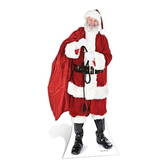Kartonnen Kerstman fotoprint