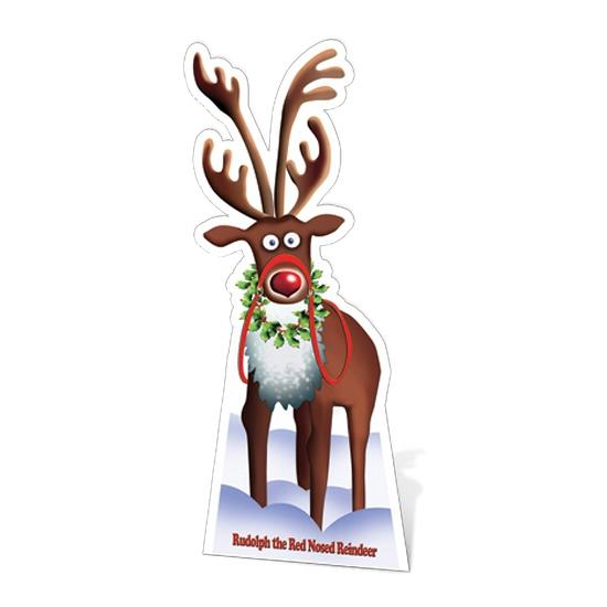 Kartonnen Rudolph fotoprint