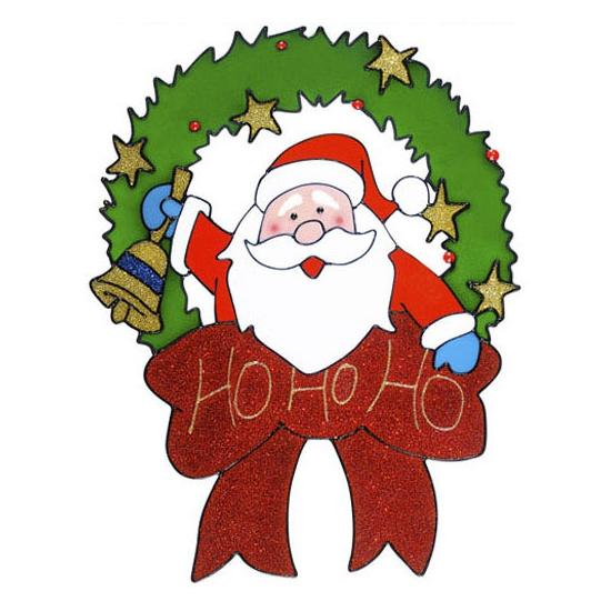 Kerst raamstickers-raamdecoratie kerstman plaatjes 30 cm