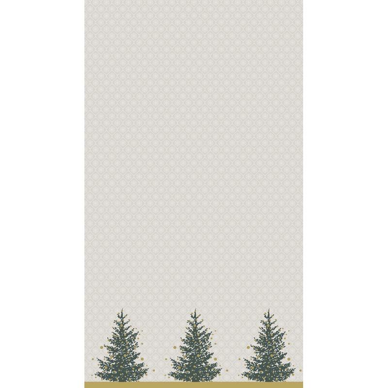 Kerst thema tafellaken-tafelkleed grijs-goud 138 x 220 cm