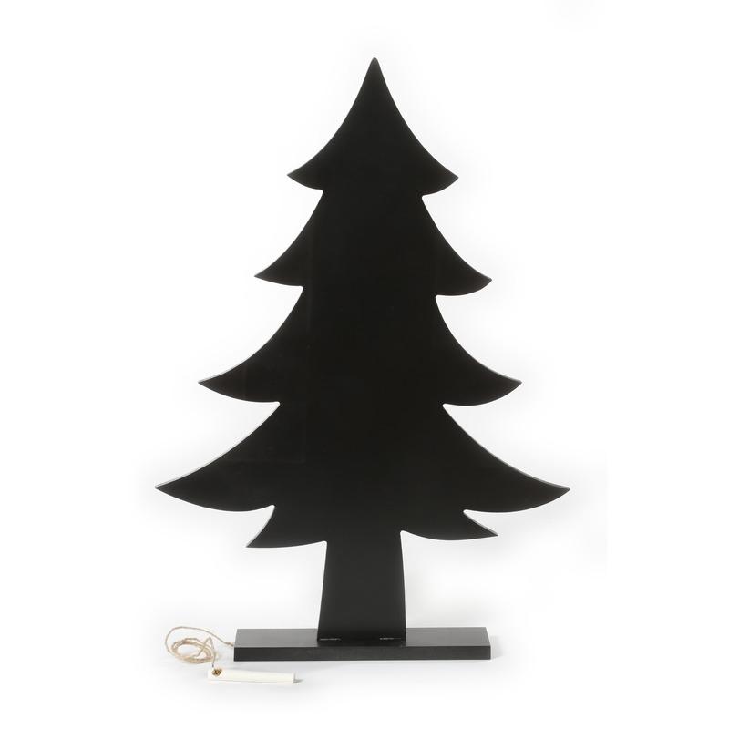 Kerst woondecoratie houten kerstboom krijtbord 51 cm