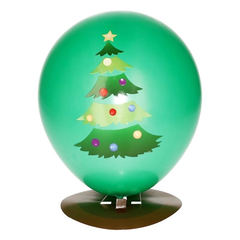 Kerstboom ballon versieren 27 cm