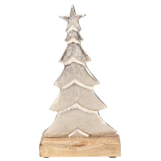 Kerstboom decoratie aluminium 24 cm