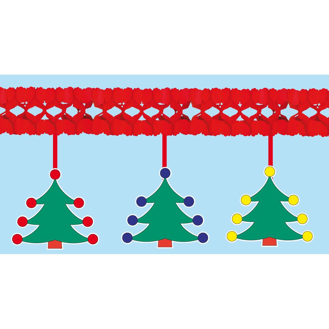 Kerstboom decoratie slinger 4 meter