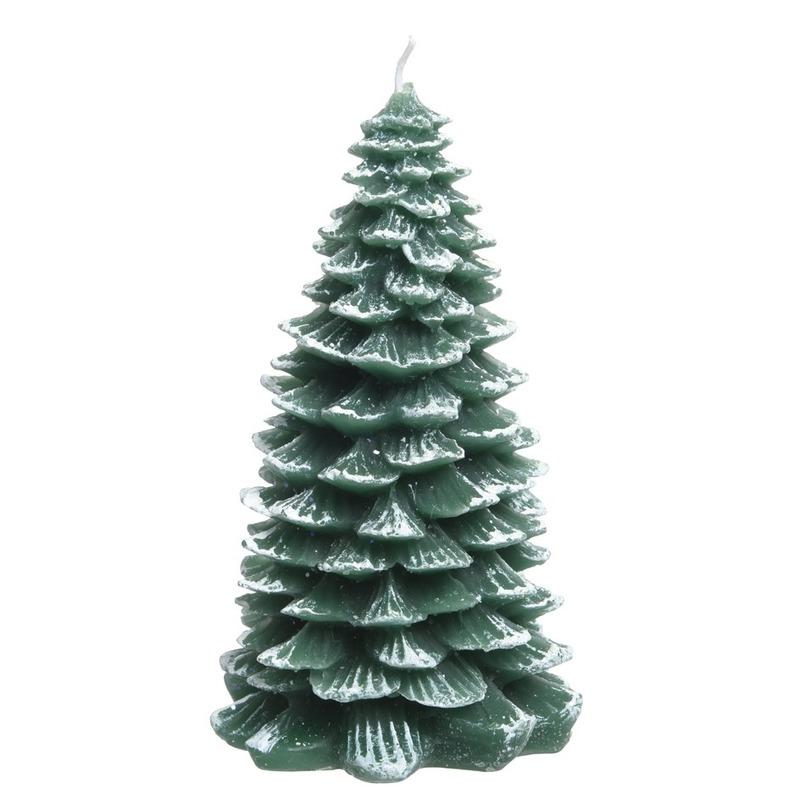 Kerstboom groene kaars 23 cm