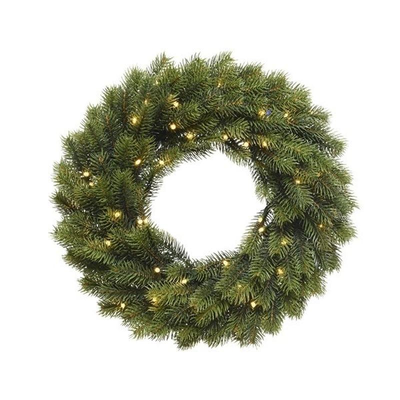 Kerstkrans inclusief verlichting voor aan de deur 40 cm