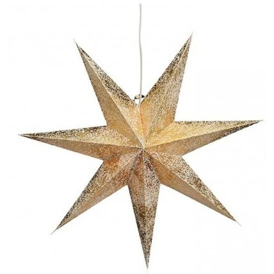 Kerstversiering gouden kerststerren 60 cm