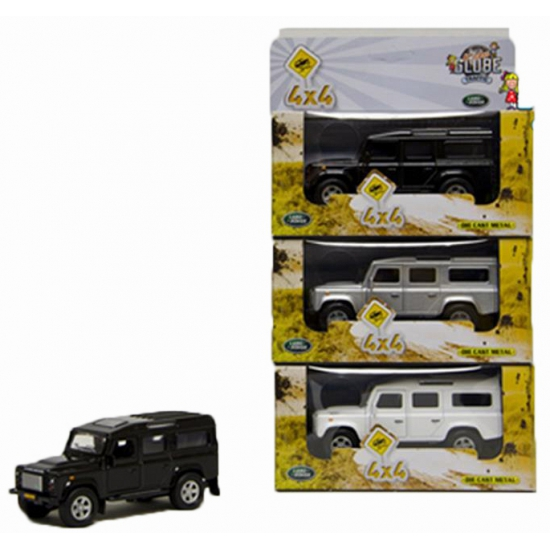 Kinderspeelgoed auto Land Rover wit 20 cm