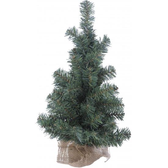 Kleine kerstboom met jute zak 60 cm