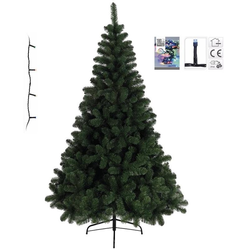 Kunst kerstboom Imperial Pine 120 cm met gekleurde verlichting