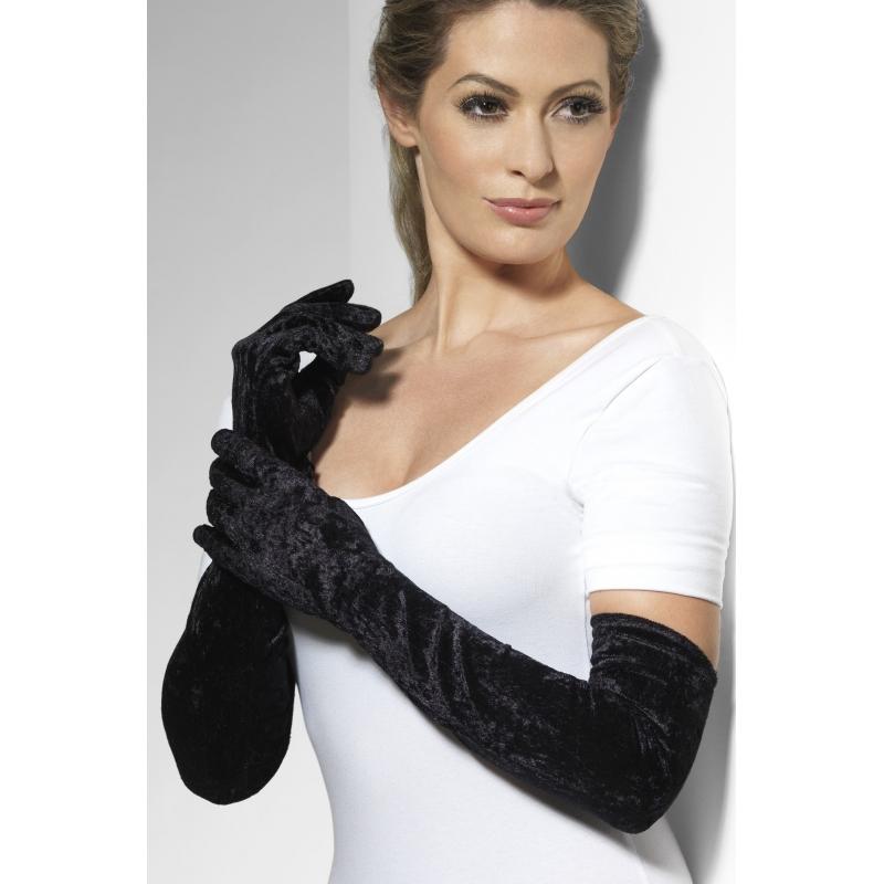 Lange dames handschoenen 53 cm lang
