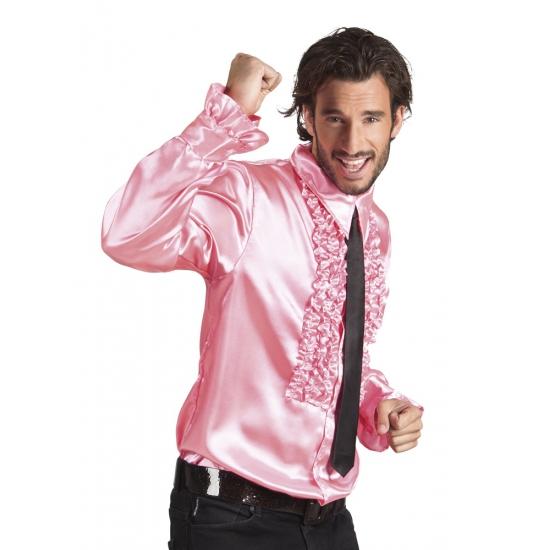Lichtroze rouche overhemden