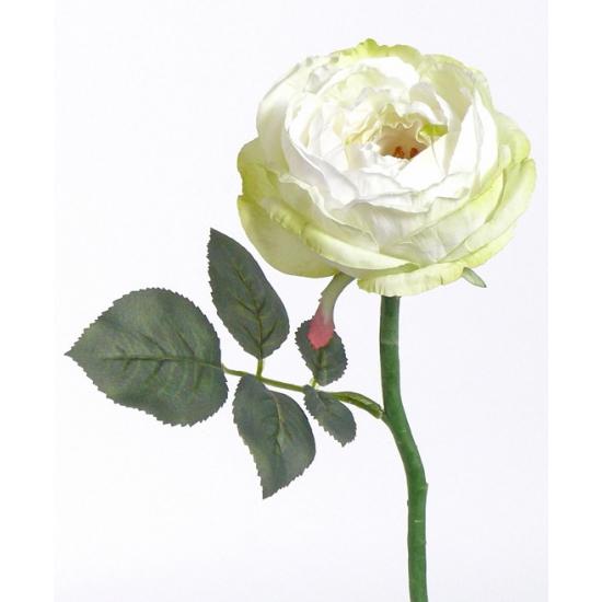 Luxe decoratie roos wit