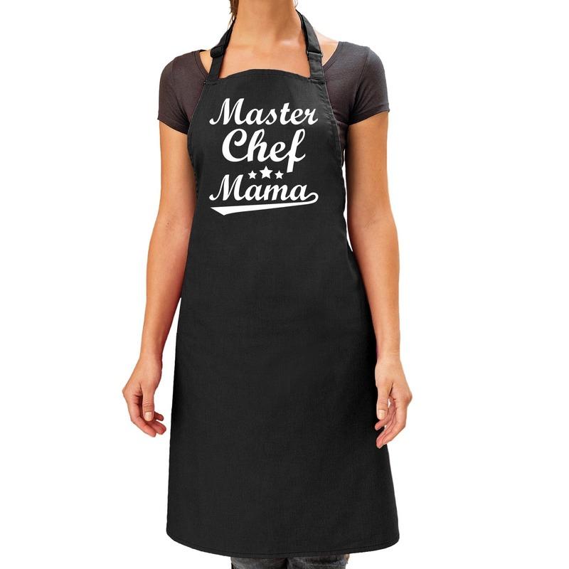 Master chef mama cadeau bbq-keuken schort zwart dames