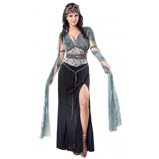 Medusa-heksen verkleedjurk voor dames