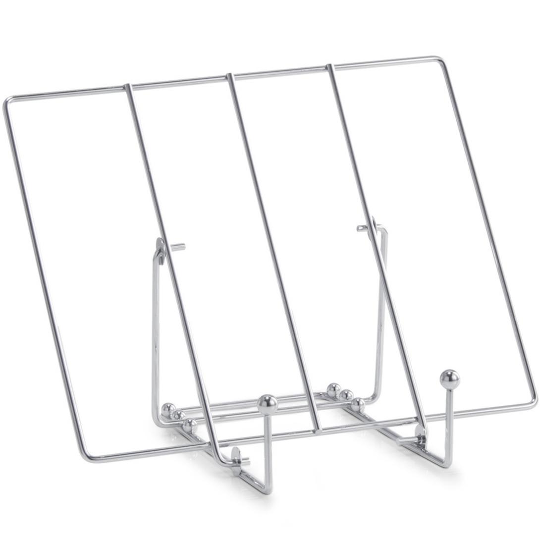 Metalen tablet-iPad standaard-houder zilver 30 cm