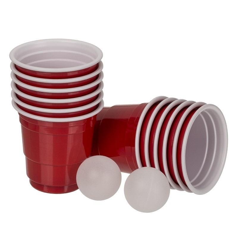 Mini beer pong drankspel-drinkspel 14 delig