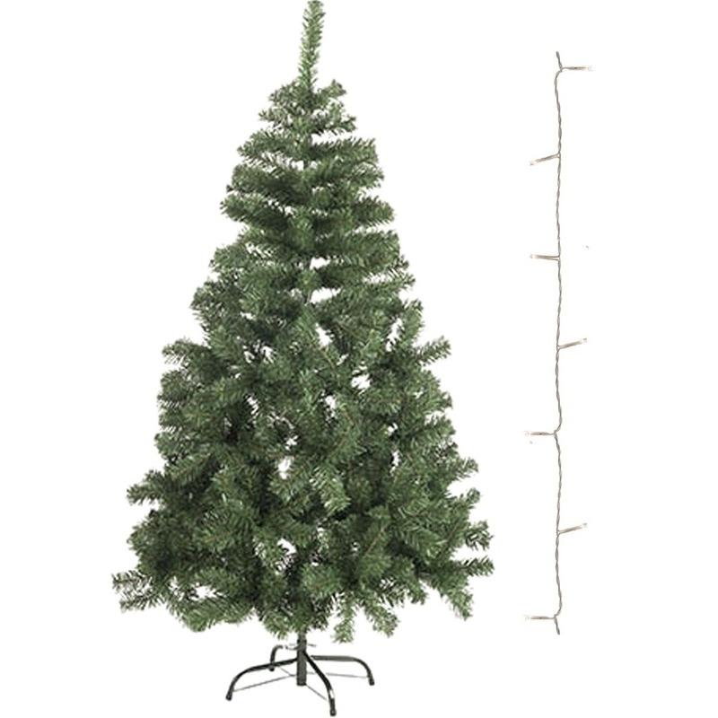 Mini kunst kerstboom 60 cm met helder witte verlichting