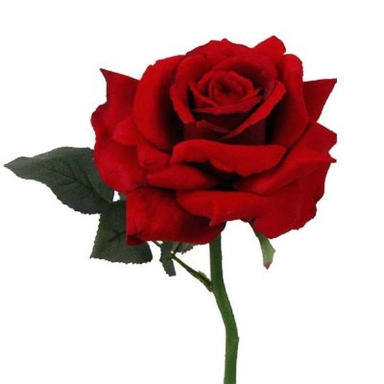 Nep roos roos 31 cm Kunstbloemen