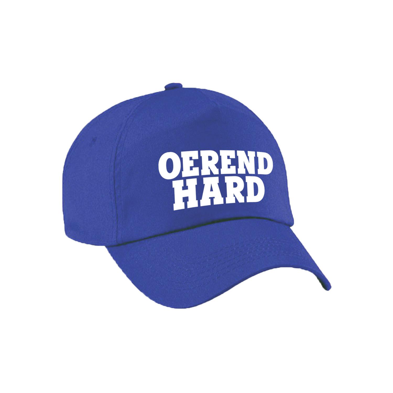 Oerend hard festival pet / cap blauw volwassenen