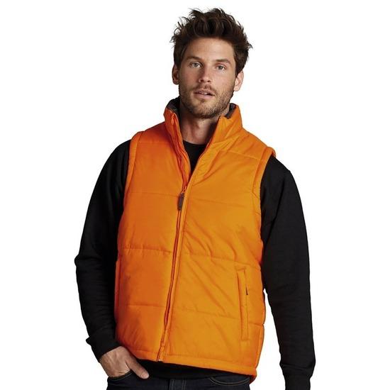 Oranje bodywarmers voor mannen