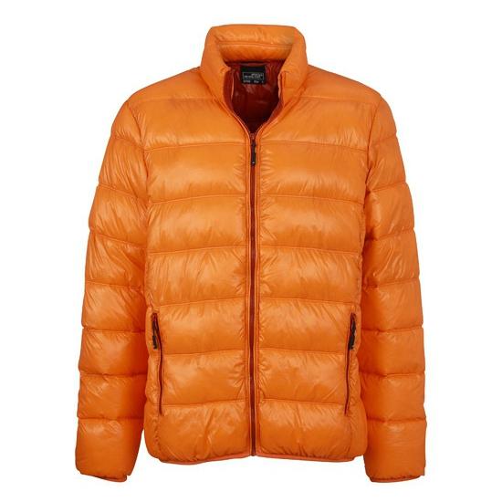 Dons Winterjas Heren.Warme Donzen Winterjas Voor Mannen In Oranje Artikelen Winkel