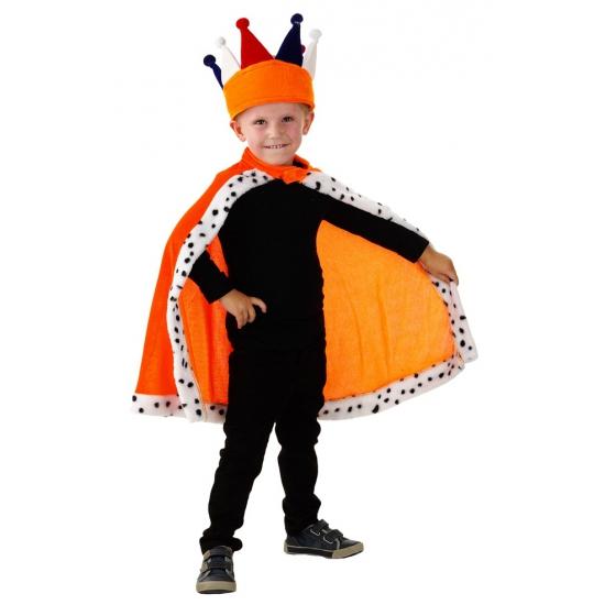 5c6287445f6f1d Koninklijke oranje cape voor kinderen in oranje artikelen winkel ...