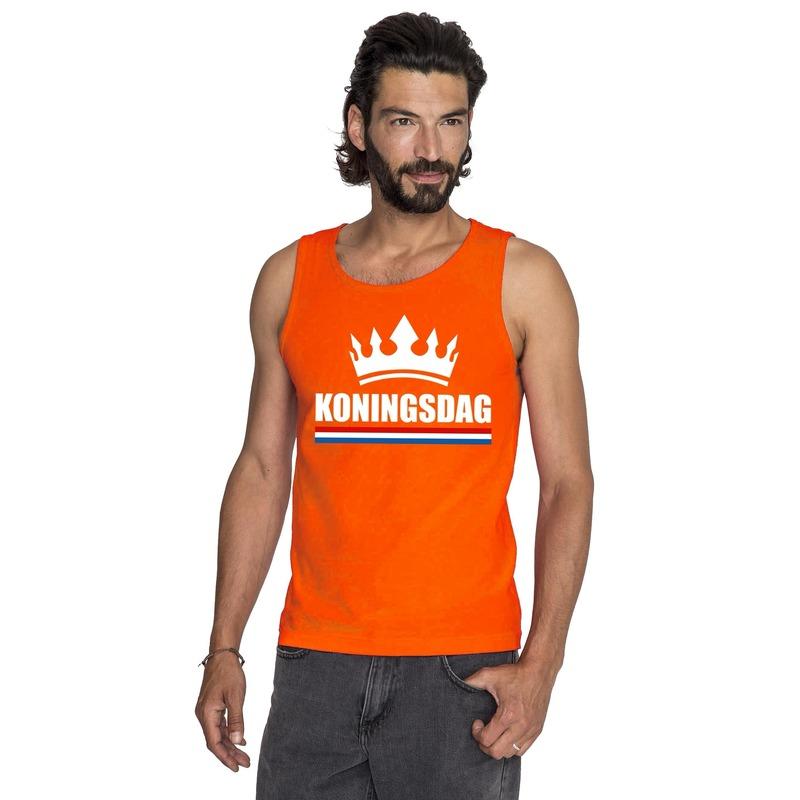 2800ee4569a Oranje Koningsdag kroon tanktop heren in oranje artikelen winkel ...